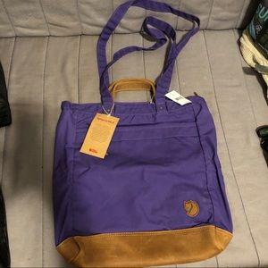 FJALLRAVEN purple totepack 2 backpack